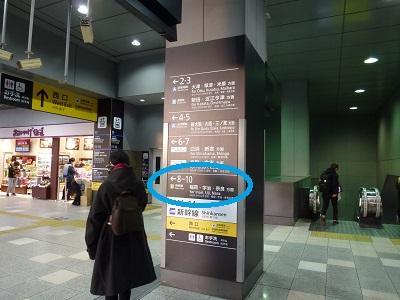 京都駅構内の案内表示