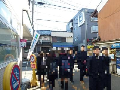 JR東福寺を出たところ