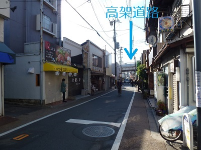 JR東福寺付近の町並み