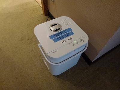 ホテルグランヴィア京都で借りた加湿器