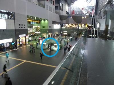 京都駅中央改札口付近