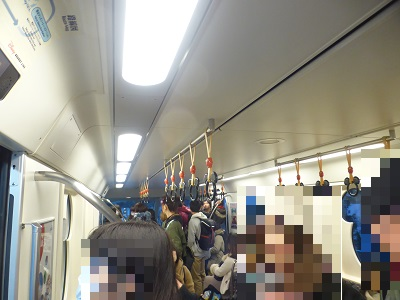 東京ディズニーリゾート・リゾートラインの車内