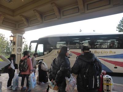 東京ディズニーランドホテルに到着したリムジンバス