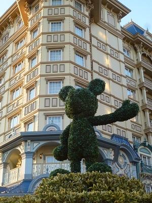 東京ディズニーランドホテルのミッキーのトピアリー
