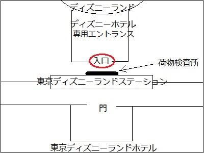 東京ディズニーランドホテルからディズニーランドまでの位置関係
